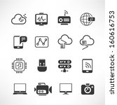 network and communication icons | Shutterstock .eps vector #160616753
