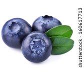 blueberries isolated on white... | Shutterstock . vector #160617713