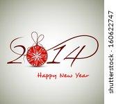 happy new year 2014 celebration ...   Shutterstock .eps vector #160622747