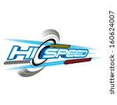 hi speed concept vector | Shutterstock .eps vector #160624007