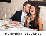 attractive elegant young couple ... | Shutterstock . vector #160632413