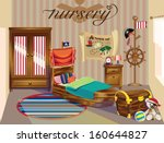 pirate room | Shutterstock .eps vector #160644827