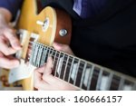 my friend is playing guitar | Shutterstock . vector #160666157