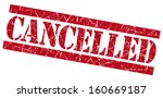 cancelled grunge red stamp | Shutterstock . vector #160669187