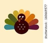 colorful thanksgiving turkey.... | Shutterstock .eps vector #160669577
