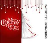 merry christmas and happy new... | Shutterstock .eps vector #160688393