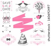 vector set of wedding  design... | Shutterstock .eps vector #160692497