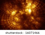 GridCloud Hub - fractal illustration - stock photo