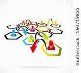 restructuring the company to... | Shutterstock .eps vector #160719833