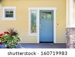 a front entrance of a home with ... | Shutterstock . vector #160719983
