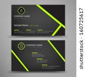Vector abstract creative business cards (set template)  | Shutterstock vector #160725617