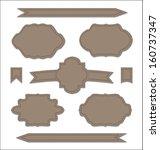illustration set leather... | Shutterstock . vector #160737347