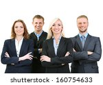 group of business people... | Shutterstock . vector #160754633