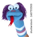 Cute Sock Puppet Isolated On...