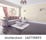 modern interior design  private ... | Shutterstock . vector #160758893