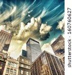 spectacular street upward view... | Shutterstock . vector #160760627