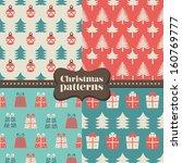 set of christmas patterns ... | Shutterstock .eps vector #160769777