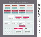 retro user interface design kit....