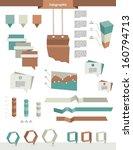 infographics elements. folder... | Shutterstock .eps vector #160794713