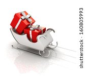 christmas santa sledge with... | Shutterstock . vector #160805993