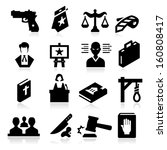law icons | Shutterstock .eps vector #160808417
