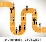 many people finding way and... | Shutterstock .eps vector #160813817