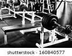 weight in dark weight room ... | Shutterstock . vector #160840577