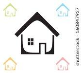 house. vector. eps 10  non... | Shutterstock .eps vector #160847927