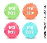 watercolor circles. design... | Shutterstock .eps vector #160855637