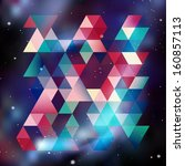 triangle background with galaxy ... | Shutterstock .eps vector #160857113