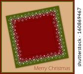 beautiful frame for christmas... | Shutterstock .eps vector #160869467