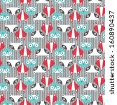 seamless pattern with cute... | Shutterstock .eps vector #160890437