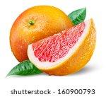 Grapefruit With Slice On White...