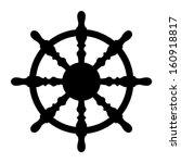 ship steering wheel  | Shutterstock .eps vector #160918817