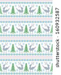 reindeer with christmas trees...   Shutterstock . vector #160932587