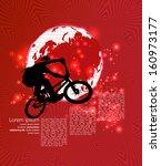 vector of bmx cyclist | Shutterstock .eps vector #160973177
