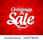 christmas sale design template. | Shutterstock .eps vector #160978643