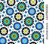 ethnic pattern in bright color... | Shutterstock .eps vector #160980083
