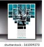 unique tree page layout for web ...   Shutterstock .eps vector #161009273