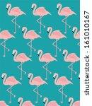 Vintage Seamless Flamingo...