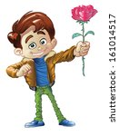 illustration of a young man... | Shutterstock .eps vector #161014517