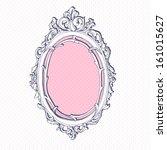 vector hand drawn vintage frame. | Shutterstock .eps vector #161015627