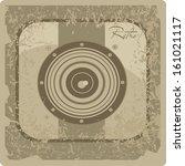 vintage photo camera icon | Shutterstock .eps vector #161021117