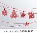 set christmas labels with... | Shutterstock .eps vector #161045453