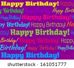 happy birthday   grouped... | Shutterstock . vector #161051777