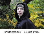 Woman With Diadem Under Black...