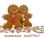 Two Gingerbread Men Among...