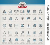 business concept icon set | Shutterstock .eps vector #161077847