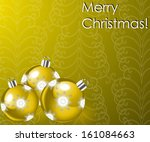 illustration with christmas... | Shutterstock . vector #161084663