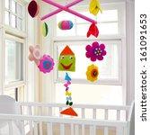 baby mobile   kids toys | Shutterstock . vector #161091653